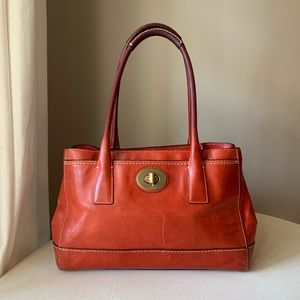 Coach - Madeline Satchel Burnt Orange Brass